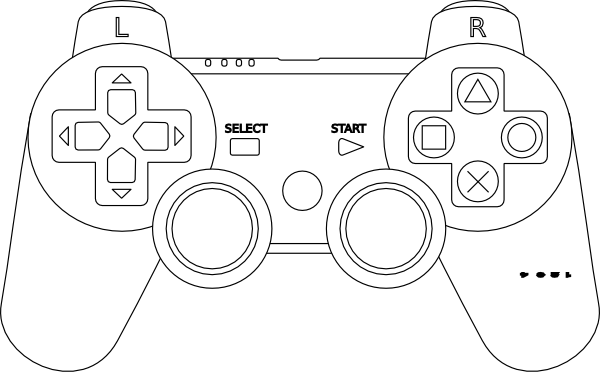 clip art free stock Video game clipart black and white. Controller coloring page sw