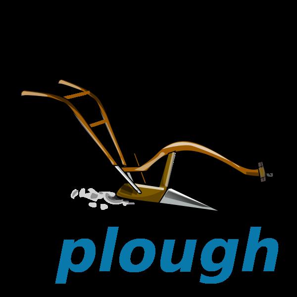 image transparent Plow clipart. File wikivoc plough svg.