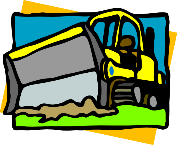 vector royalty free library Bulldozer Clip Art at Clker