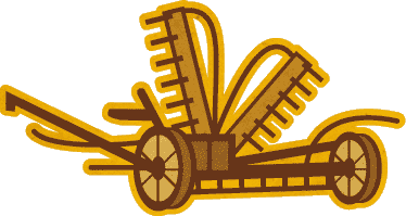 png free  collection of high. Plow clipart mechanical reaper.