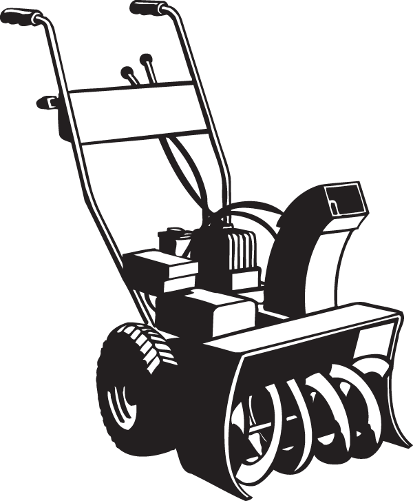 clip art black and white download Plow clipart snowblower. Decal .