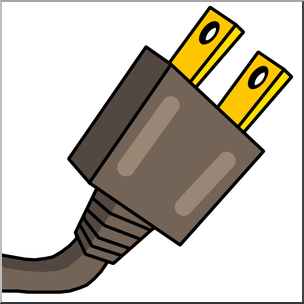 png freeuse library Clip art electricity color. Plug clipart.
