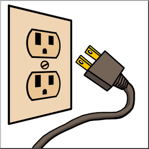 stock Plug clipart. Clip art electricity outlet