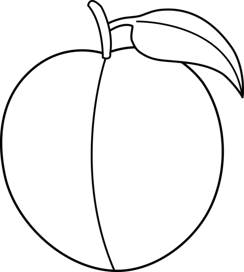 black and white download Plum Clipart Black And White