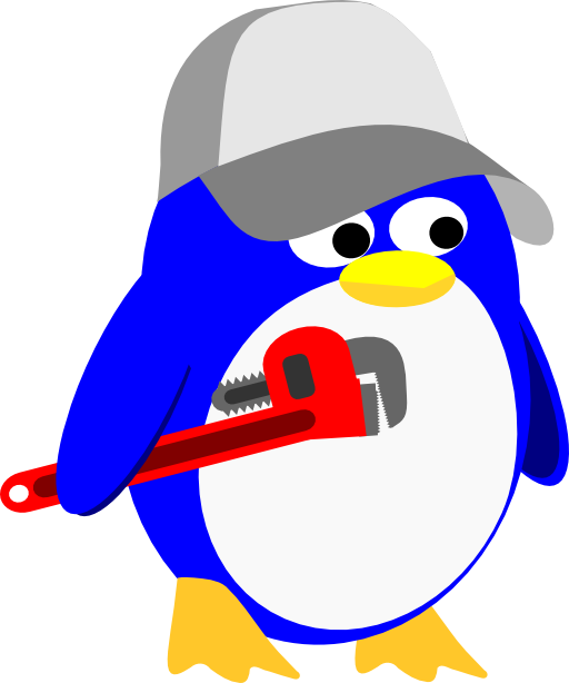 clip royalty free stock Penguin i royalty free. Plumber clipart