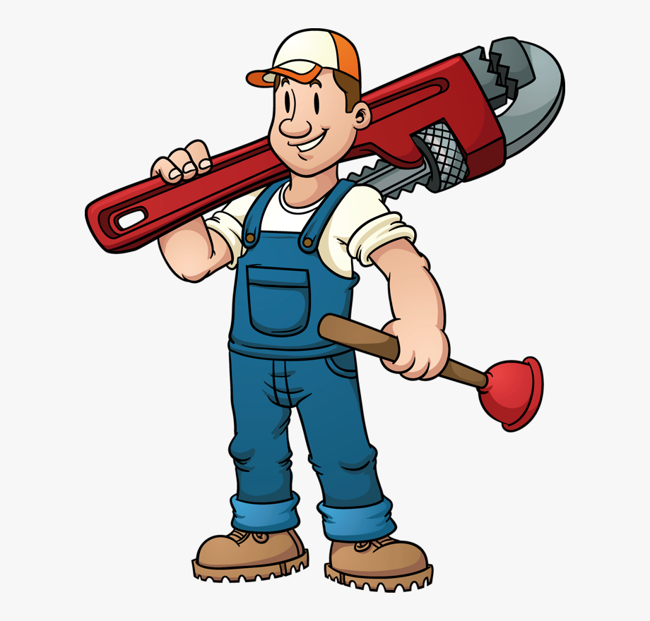clip free Plumbing repair cartoon . Plumber clipart