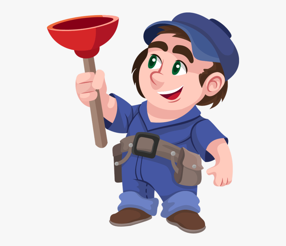 svg freeuse library Plumber clipart. Cartoon clip art png