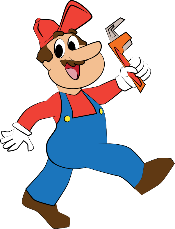 jpg freeuse library Plumber clipart. Medium image png