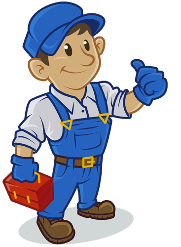 png black and white Plumber clipart repair shop