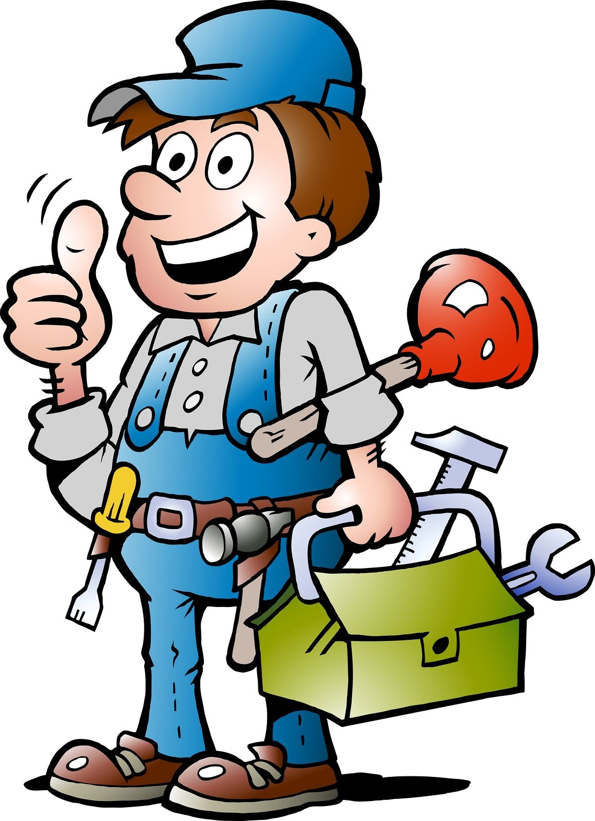 clip black and white stock Plumber clipart workman. Accolade plumbing and heating