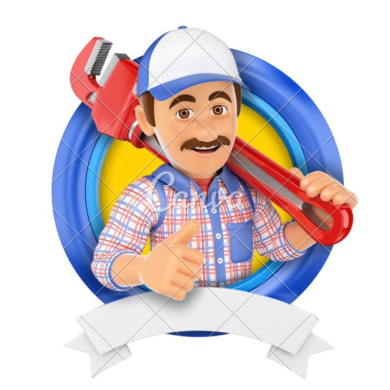 picture black and white download Plumber clipart workman. Transparent free