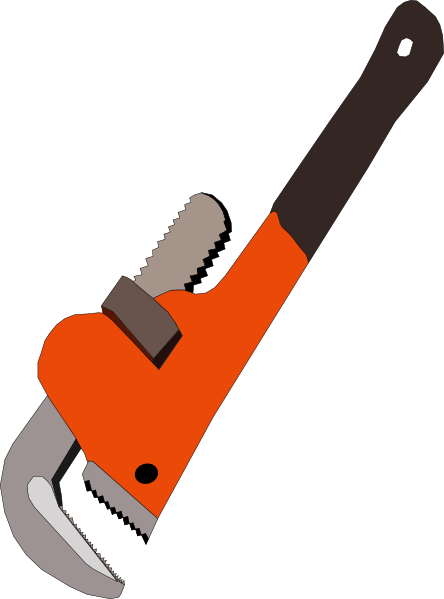 png black and white library Pipe Wrench Silhouette at GetDrawings