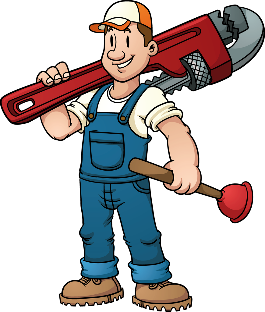 jpg black and white library  b png meeste. Plumbing clipart.