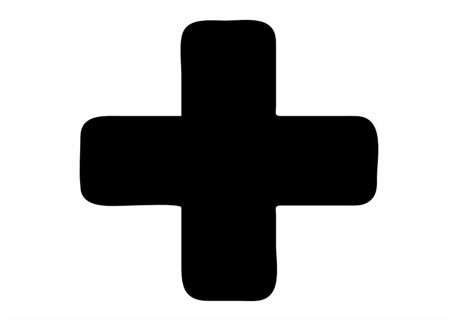 vector royalty free library Plus clipart. Black symbol clip art.