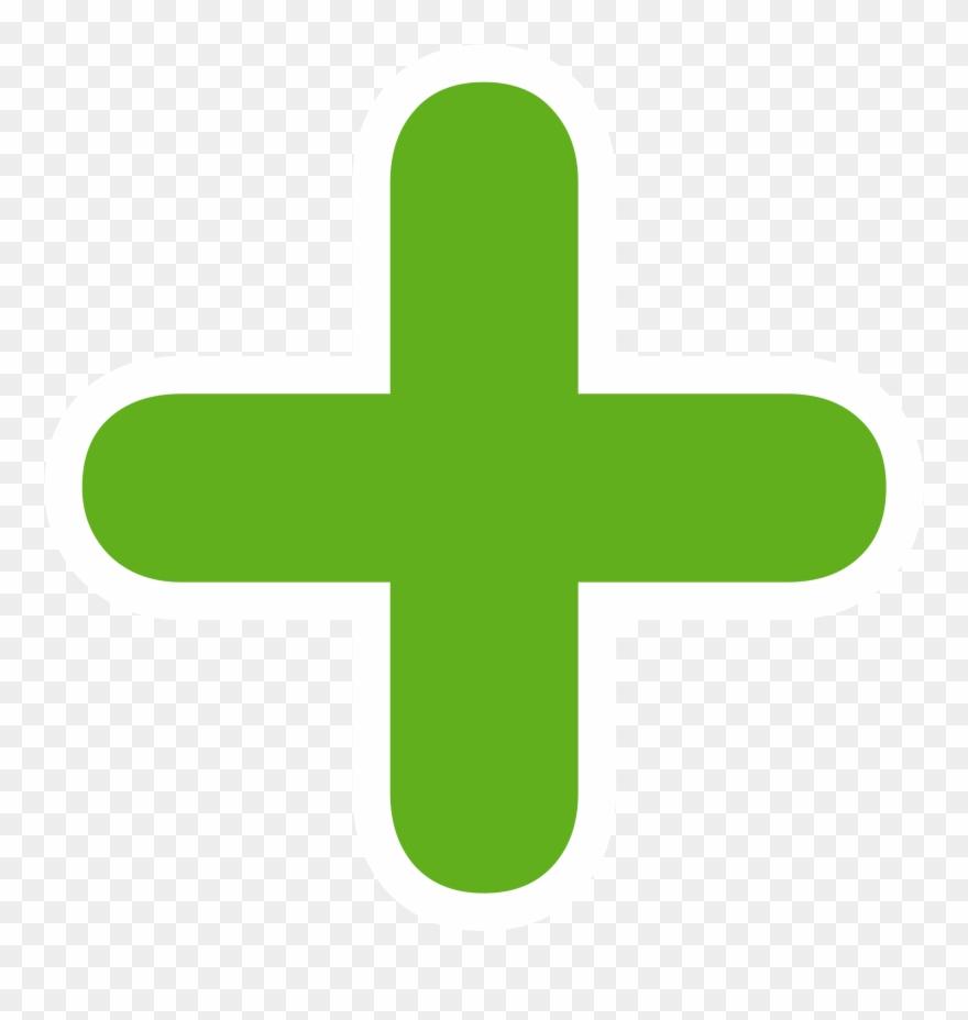 clip transparent library Medium image green sign. Plus clipart.