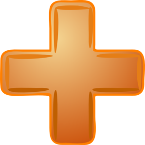 svg freeuse library Plus clipart vector. Orange sign clip art.