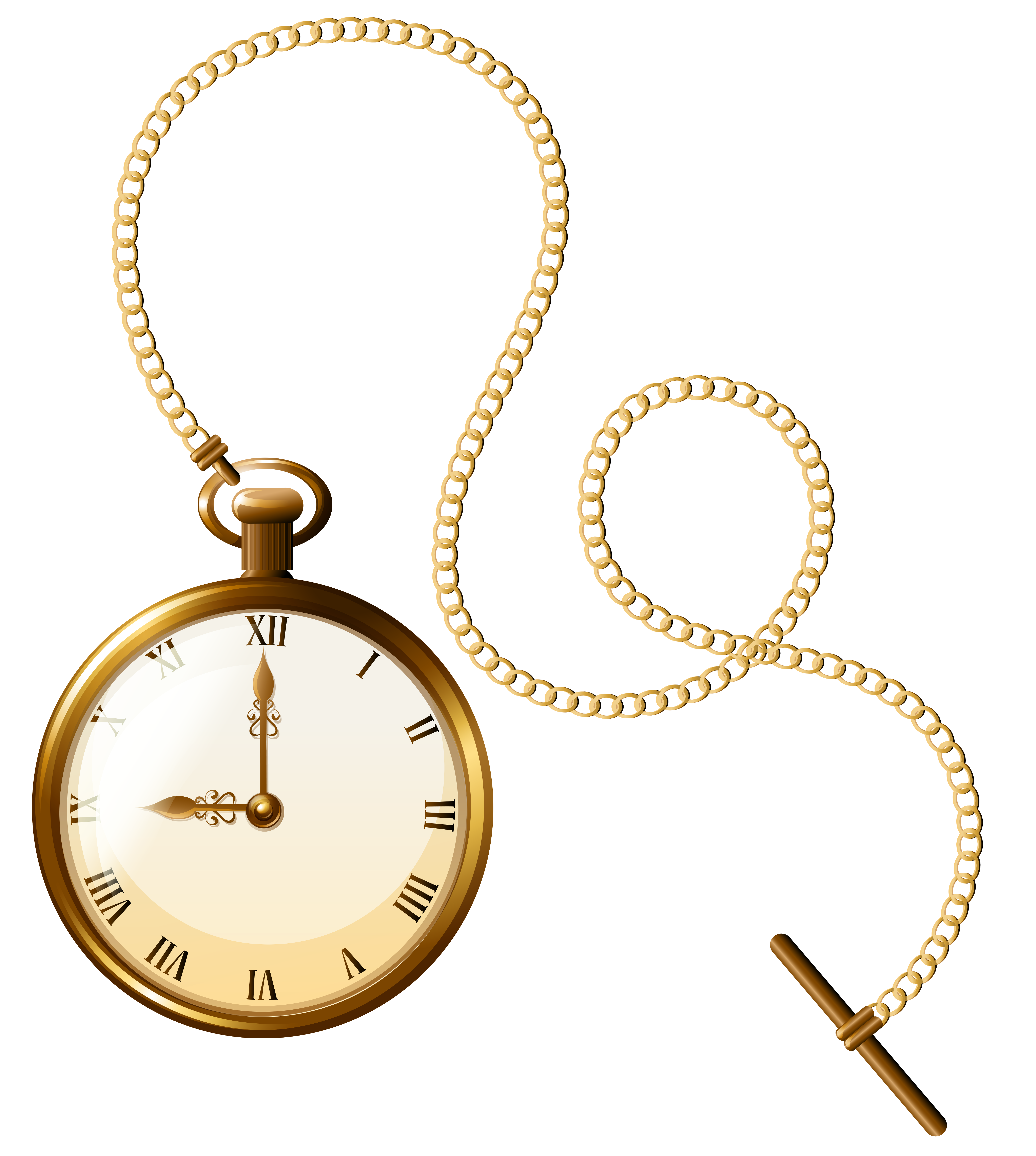clipart royalty free library Gold watch clock png. Pocket clipart.