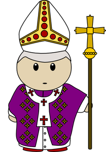 freeuse Pope clipart. The pocket scroll.
