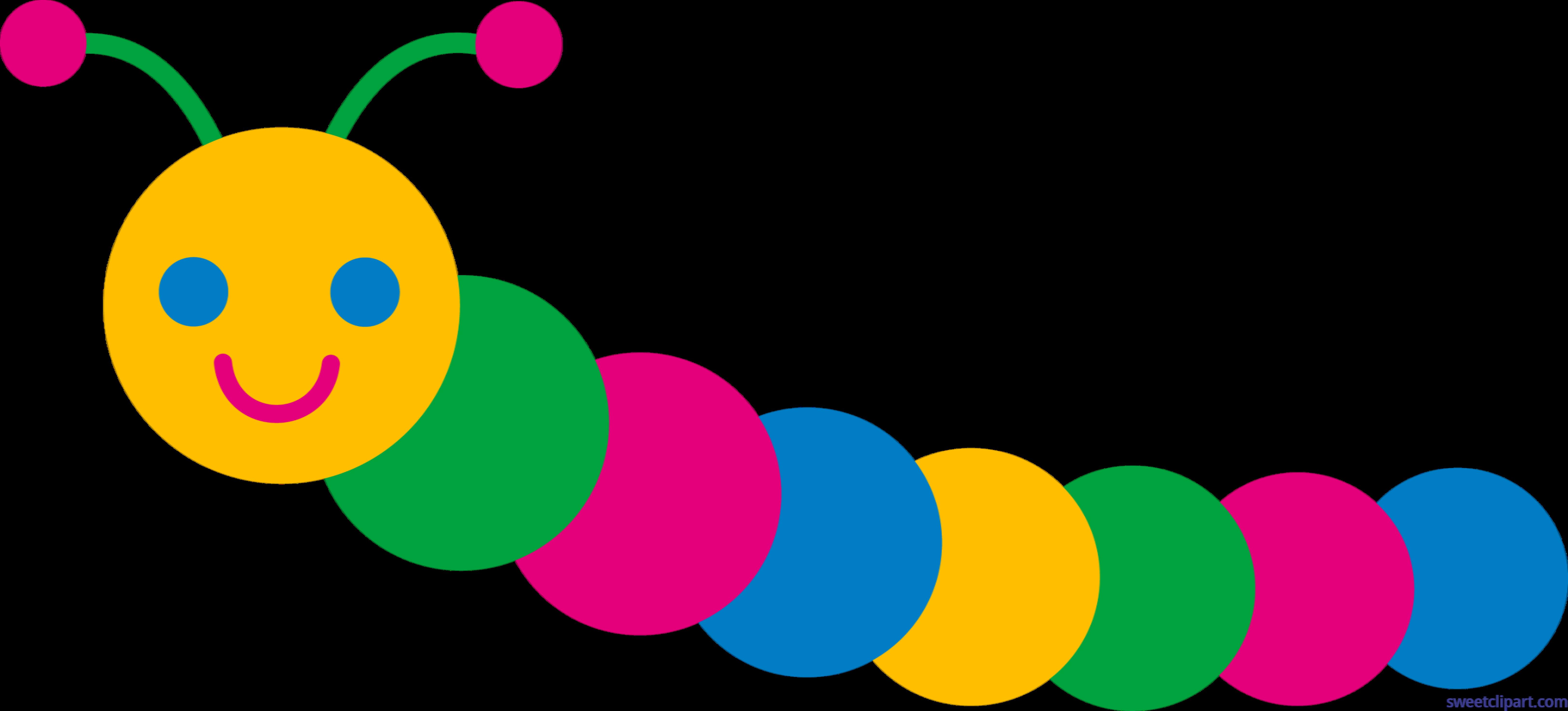 vector transparent Caterpillar Colorful Clip Art