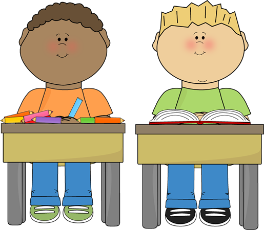 image transparent library School kids clip art. Work on writing clipart