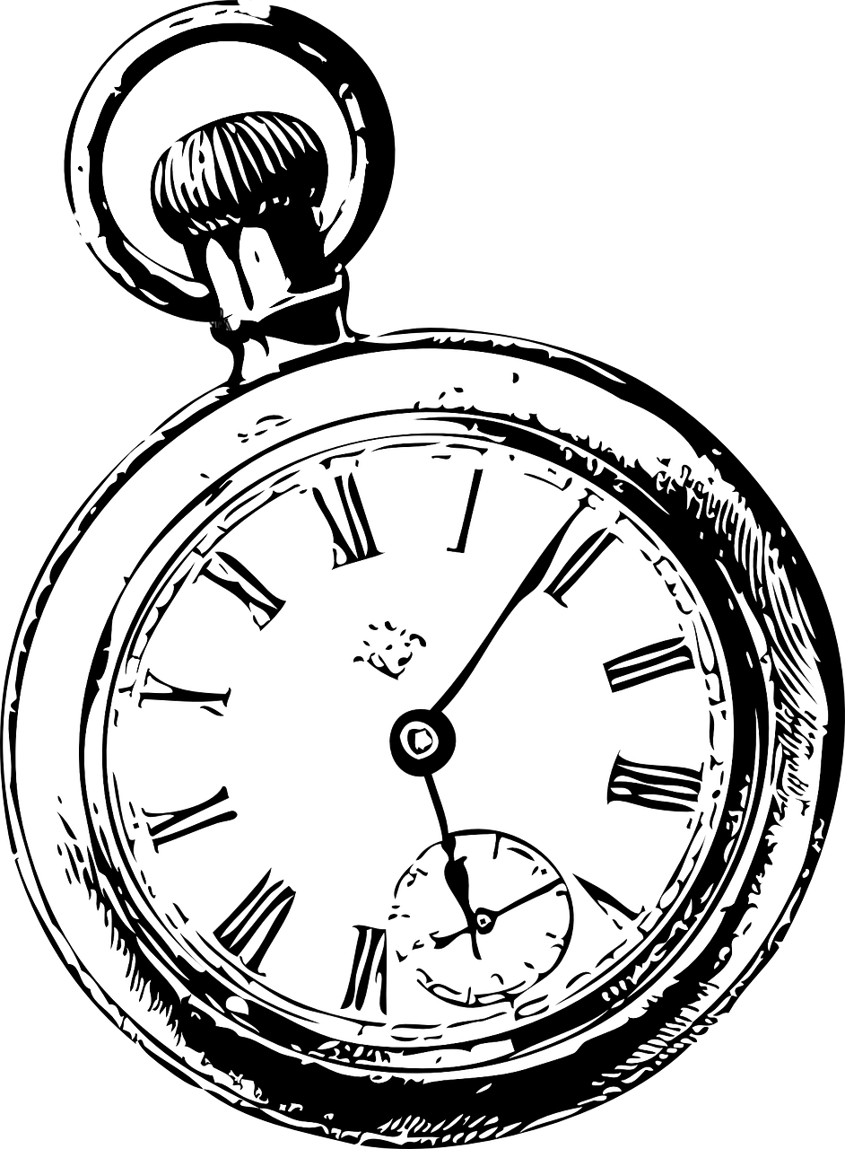 png royalty free download Black clip pocket. Watch drawing art and