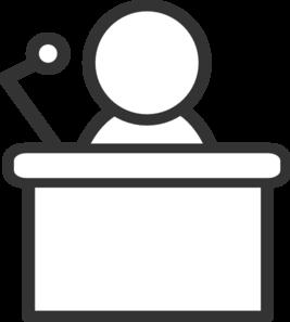 clip black and white download B w clip art. Podium clipart.