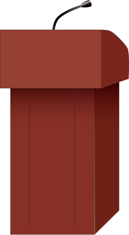 vector royalty free library Podium clipart. Speakers free hollywood rocks.