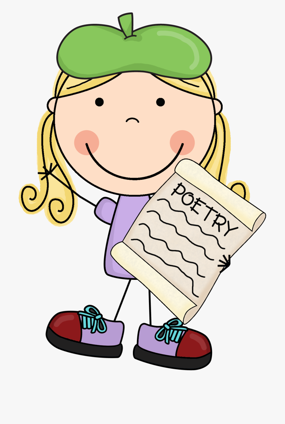 svg royalty free stock Poem clipart. Book poetry transparent cartoon