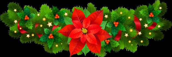 jpg library stock Poinsettias clipart. Christmas decorative with poinsettia.