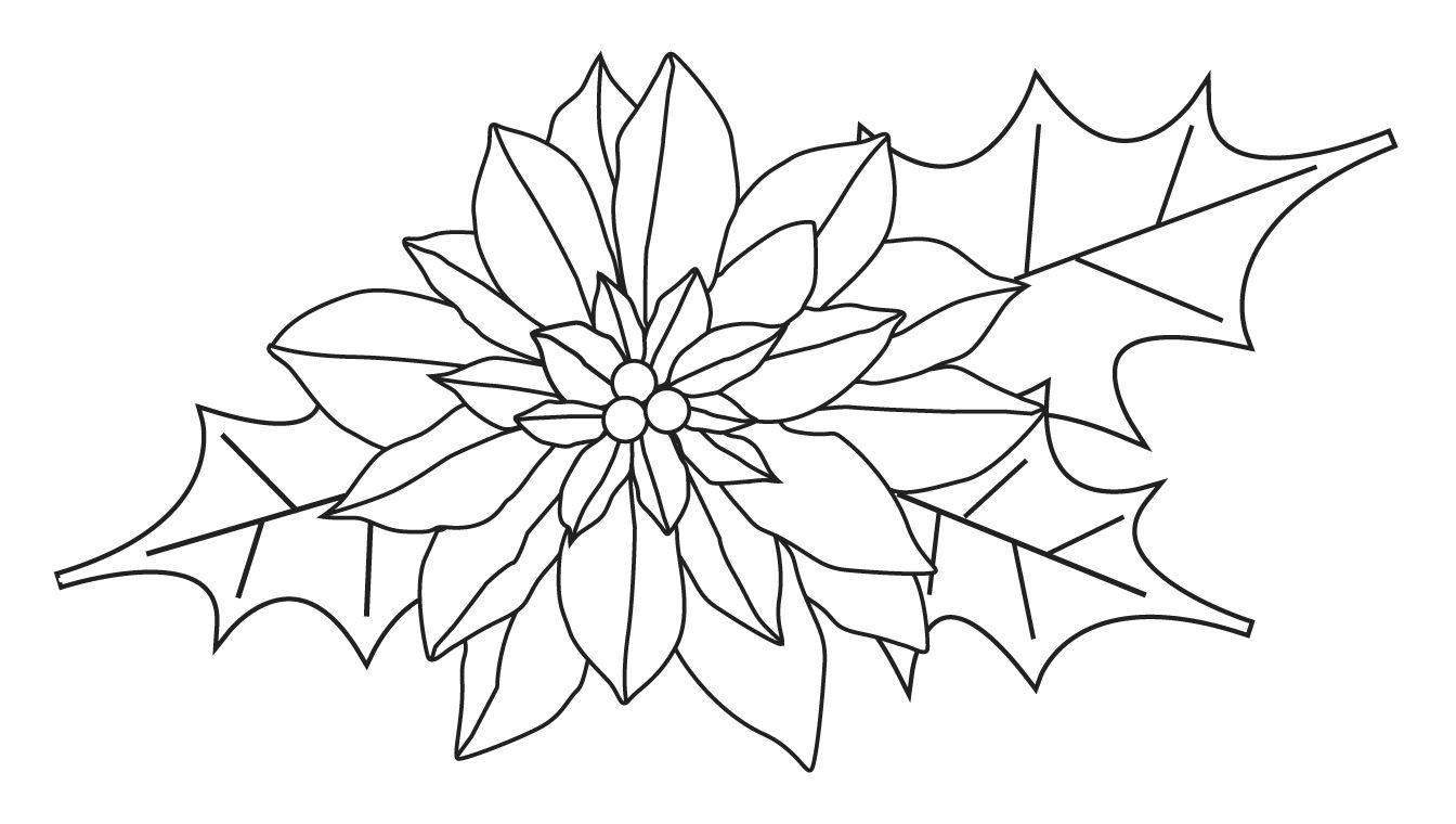 png royalty free stock Free clip art handmade. Poinsettia clipart black and white