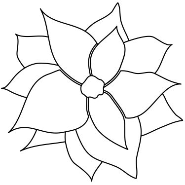 banner Free flower cliparts download. Poinsettia clipart black and white