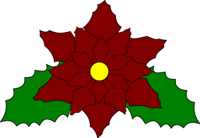 clip art library library Free christmas pattern file. Poinsettia svg.