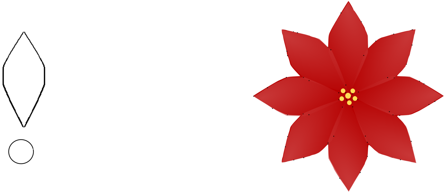 clip free library Poinsettia svg. Clip art christmas flower.