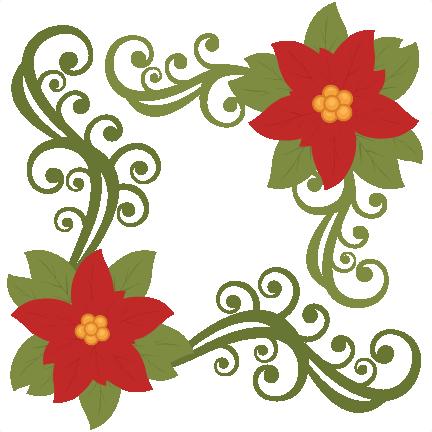 jpg freeuse library Christmas scrapbook clip art. Poinsettia svg flower.