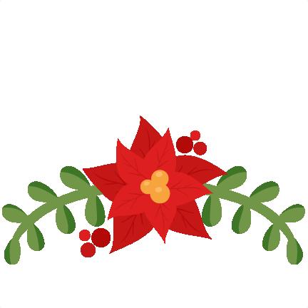 svg free download Christmas flourish scrapbook cut. Poinsettia svg transparent.