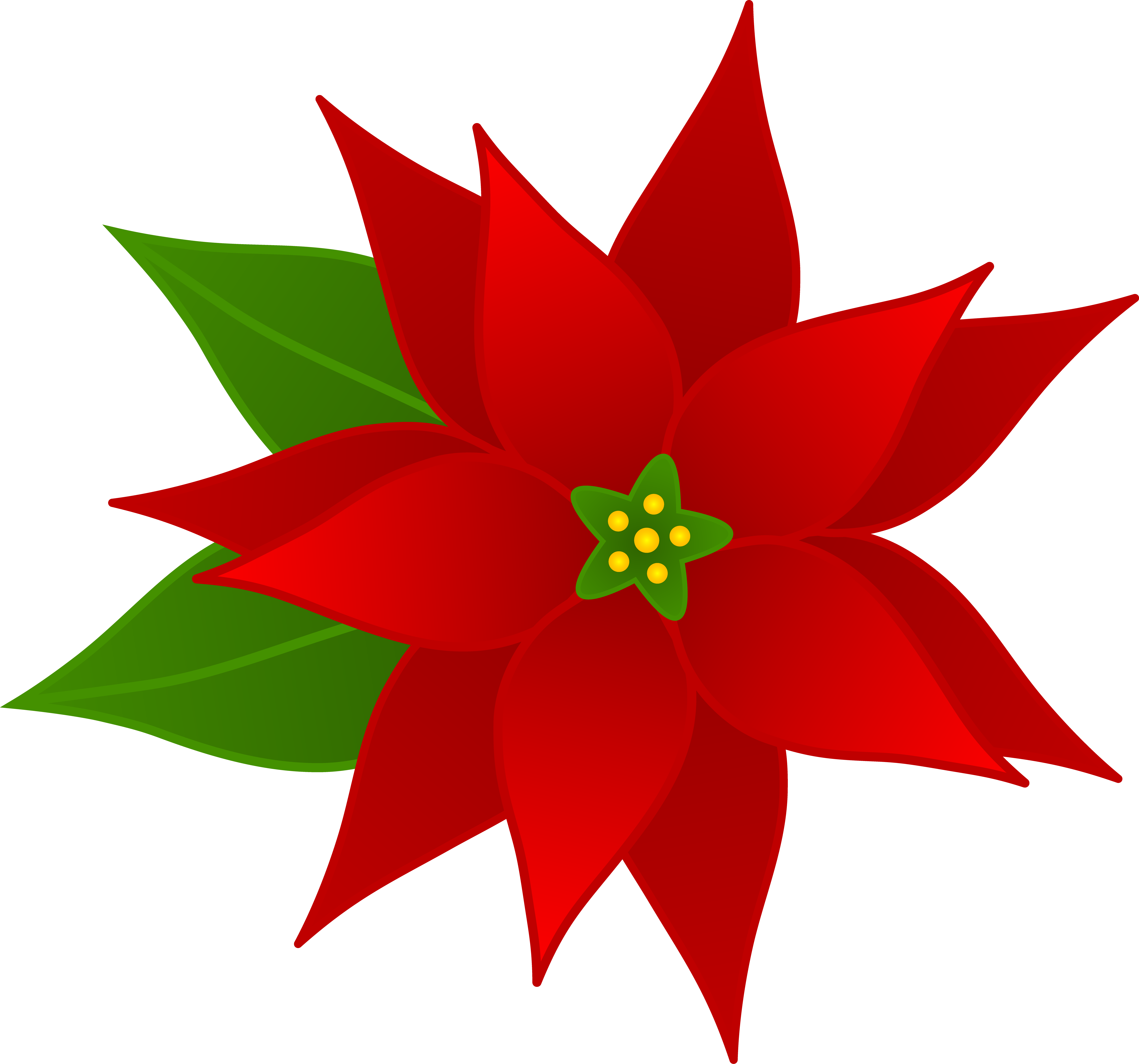 svg black and white download Free cliparts download clip. Poinsettias clipart.