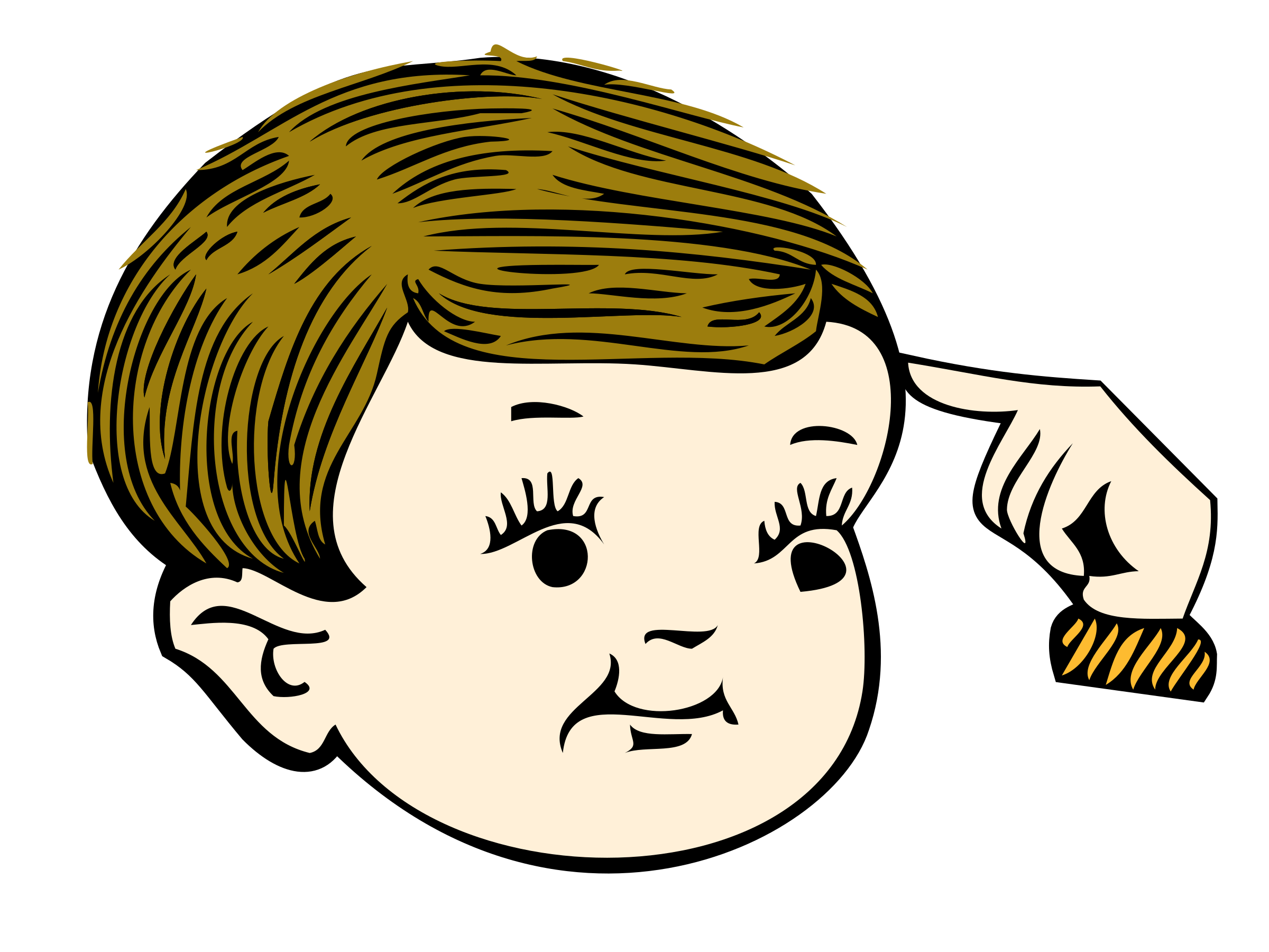 jpg free download Pointing clipart. At your head big.