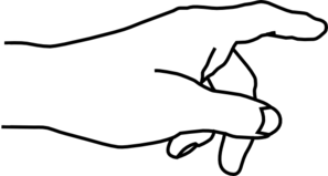 picture royalty free library Hand clip art panda. Pointing clipart.