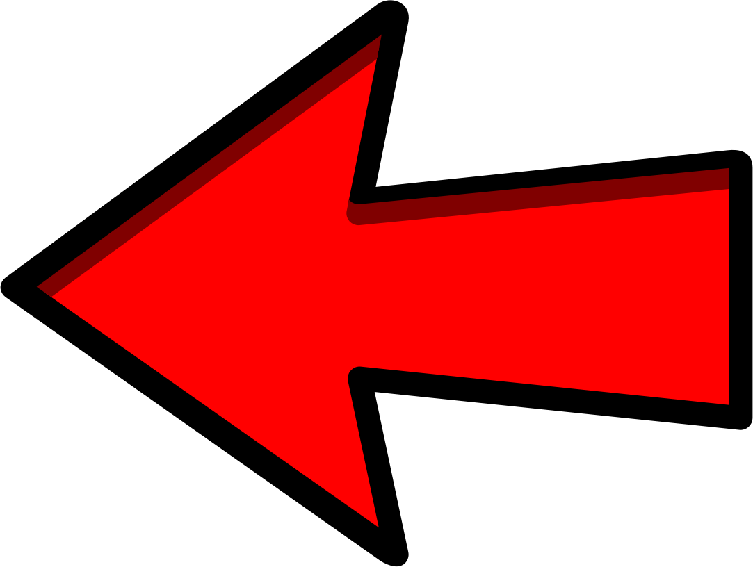 clip art transparent Clipart of an arrow. Red left pointing big.