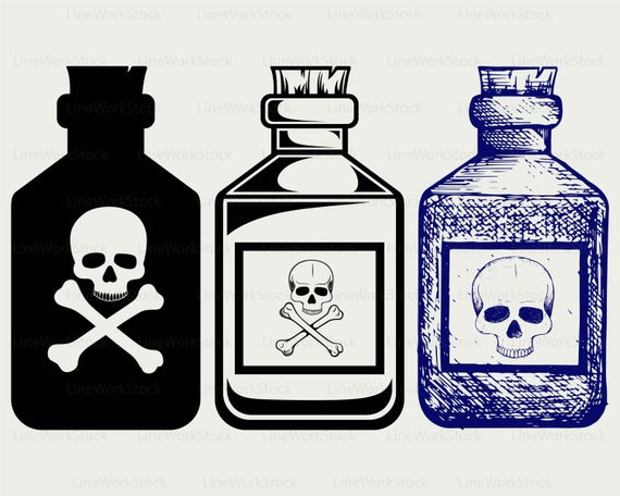 graphic royalty free stock Poison clipart. Bottles svg silhouette cricut.