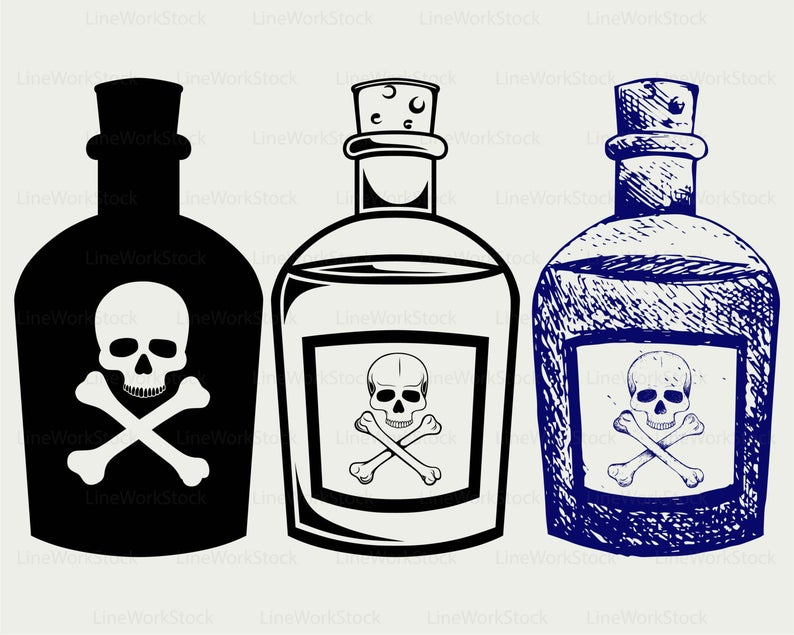 graphic royalty free stock Bottles svg silhouette cricut. Poison clipart.