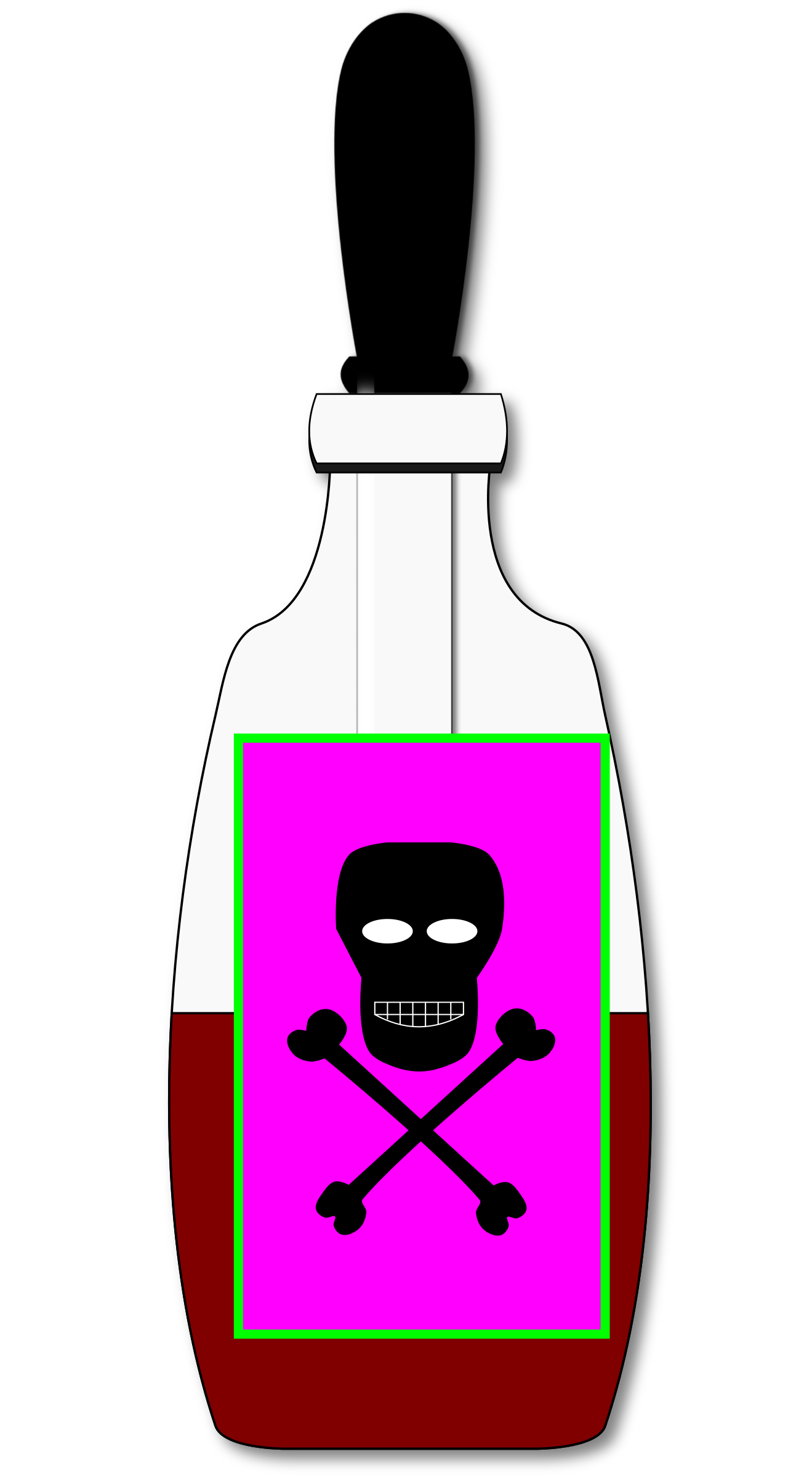 banner transparent library Poison clipart. Vial closed big image.