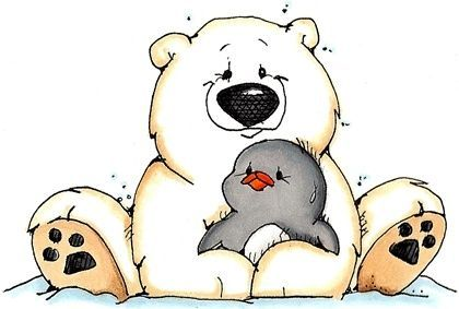 png free download Whipper snapper clip art. Polar bear and penguin clipart