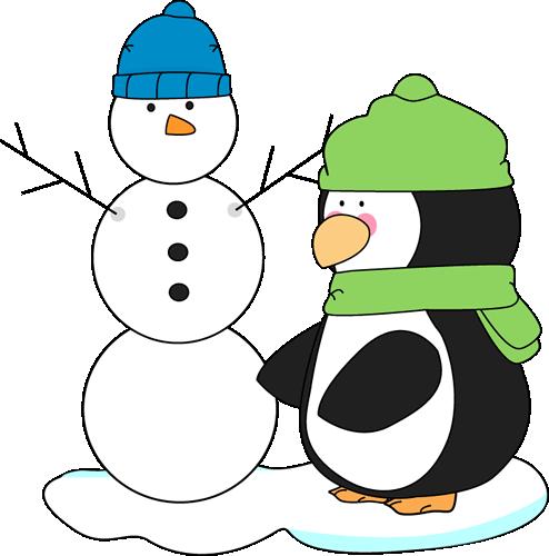 image Mycutegraphics snowman free christmas. Polar bear and penguin clipart