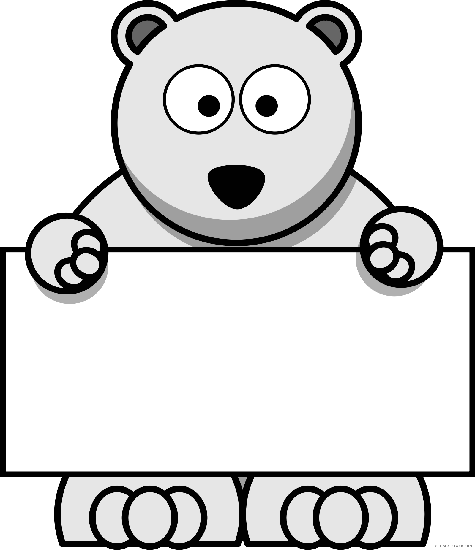 clip transparent library Clipartblack com animal free. Polar bear black and white clipart