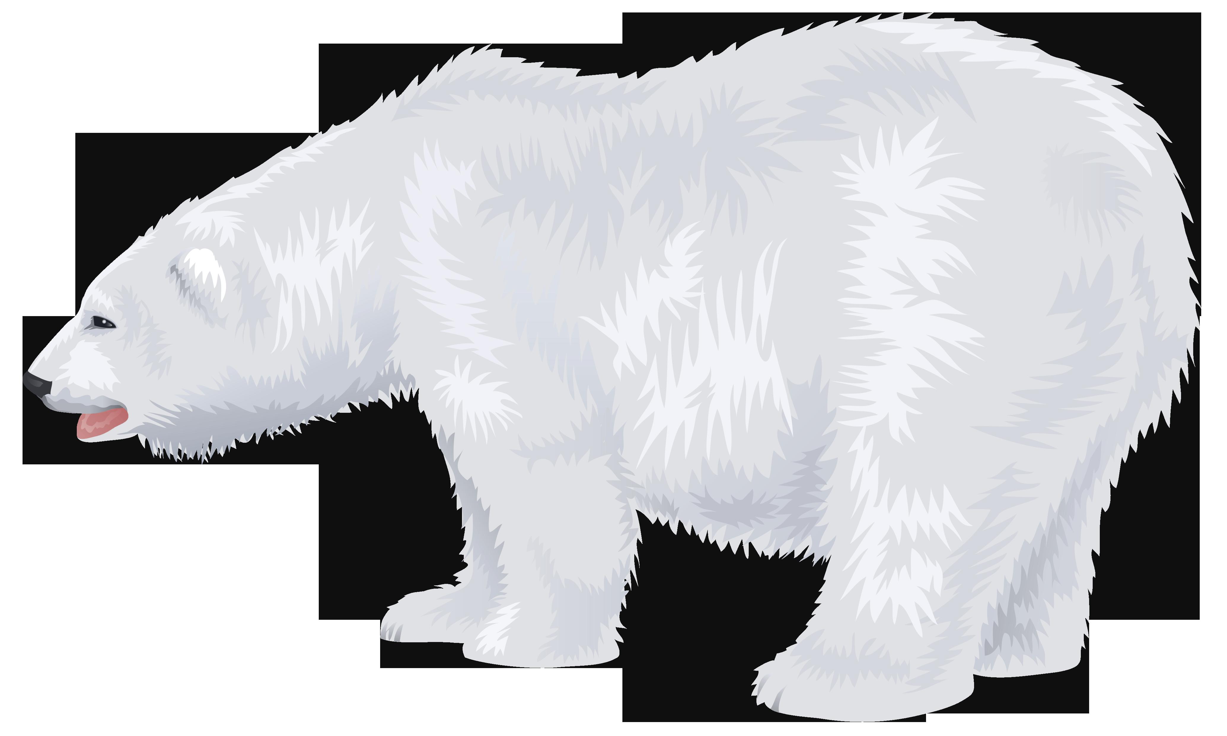 clip transparent Polar bear black and white clipart. Transparent png clip art