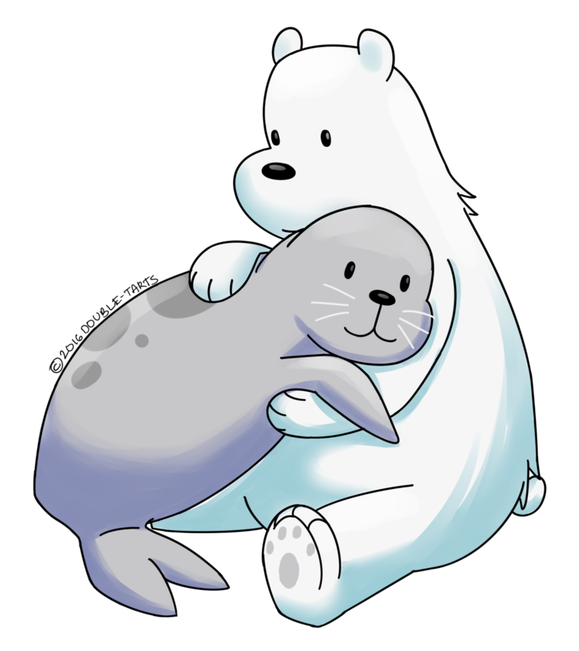 png library download Polar bear on ice clipart. We bare bears and