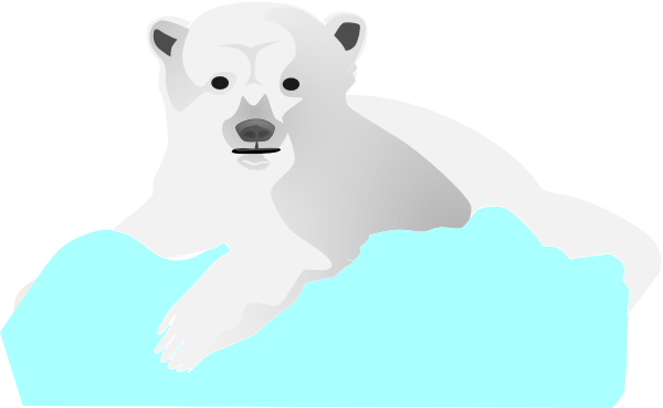 royalty free stock Polar Bear On Blue Floe Clip Art at Clker