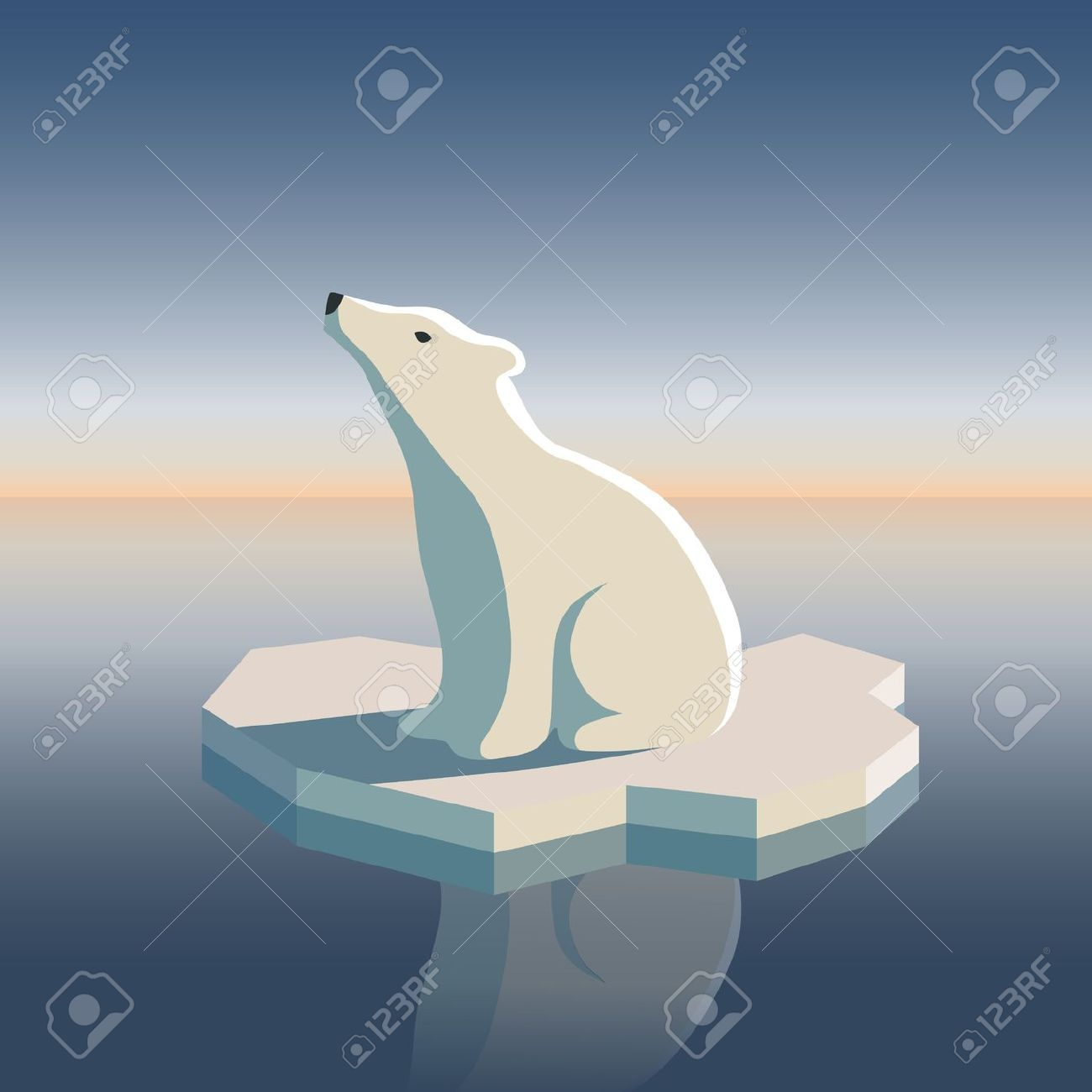 banner black and white Polar bear on ice clipart. Pin by e m