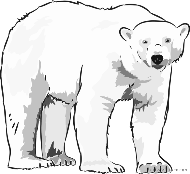 image library download Bear clipartblack com animal. Polar clipart.